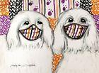 COTON DE TULEAR in Steampunk Masks 11x14 Art Giclee Print Signed Artist KSams