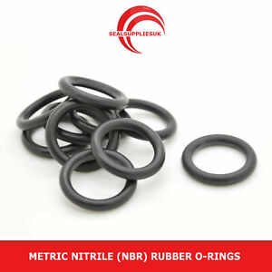 Metric Nitrile Rubber O Rings NBR 1.5mm Cross Section 1mm-10mm ID -UK SUPPLIER