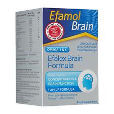 Efamol Brain Efalex Brain Formula with Omega 3 & 6 - 270 capsules