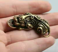 46MM China Fengshui Bronze Beast Money Brave Troops Wealth Amulet Pendant Statue