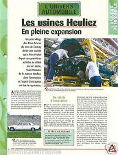 Usine Heuliez Carrossier Cerizay Deux-Sèvres Limousine 604 Car Auto FICHE FRANCE
