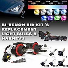Two Bi-xenon HID Kit 's Replacement Light Bulbs & Hi/Lo Harness H4 9004 9007 H13
