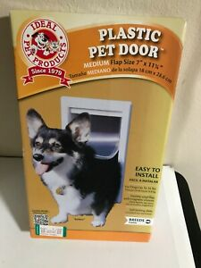 "Ideal Pet Products Medium Doggy Cat Door Medium 7x11.25"" Flap Easy Install NEW"