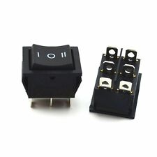 2Pcs Rocker Switch Black DPDT ON/OFF/ON 6 PIN 15A/250VAC 20A/125VAC KCD4