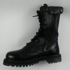 """Rocky Outdoor Gear Men's 10"""" Black Leather Paraboot USA 7M Zip Lace 2090 P117143"""