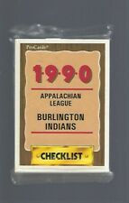 Jim Thome (HOF) – Sealed 1990 Burlington Indians Baseball Card Set - Cleveland