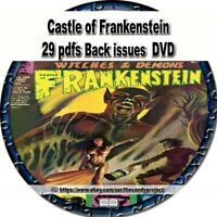 29 pdfs Castle of Frankenstein science fiction and fantasy film magazine DVD