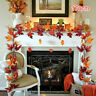170cm Artificial Autumn Fall Maple Leaf Garland Hanging Plant Leaves Party Decor