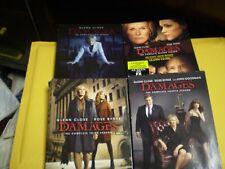 (4) Damages Season DVD Lot: Seasons 1-4  w/Slipcovers  Rose Byrne  Glenn Close