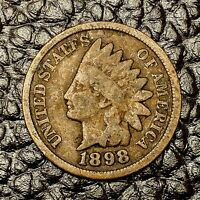 1898 Indian Head Cent ~ Good (GD) Condition ~ $20 ORDERS SHIP FREE!