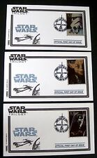 STAR WARS FIRST DAY COVER COLLECTION FDC STAMPS 1996 ST VINCENT  TRILOGY YODA