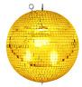 Spiegelkugel mit Sicherheitsöse 30cm gold // Discokugel - Mirrorball 30cm gold