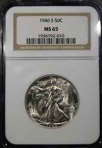 "1946-S Liberty Walking Half Dollar ""NGC MS65"" *Free S/H After 1st Item*"