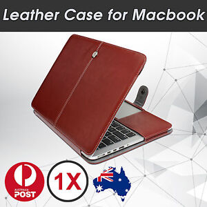Magnet Luxury Leather Sleeve Case Protective Bag Pouch Cover For Apple Macbook