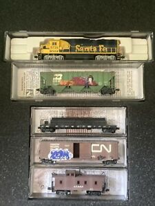 Bnsf Weathered Train Set N Scale Special Edition Micro-Trains Santa Fe Dcc Locom