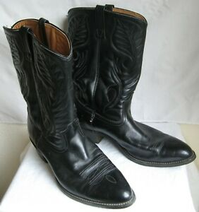 Men's Size 15 D Red Wing Shoes Pointed Toe Cowboy/Western Boots Black   C1