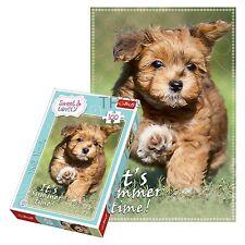 Trefl 100 Piece Sweet & Lovely Girls Puppy Summer Field Play Dog Jigsaw Puzzle