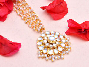 Kundan Maang Tikka Premium Quality Indian Bridal Wedding Bollywood Jewellery