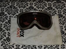 UVEX Downhill Supravision Air Super Anit Fog UV Protection Ski Goggles wBag USED