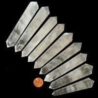 1 x Rock Quartz XL 12 Cut Crystal Vogel DT Wand Healing Reiki Reflexology