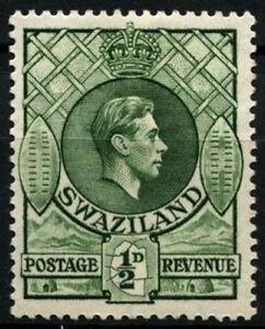 Swaziland 1938-54 SG#28a, 1/2d Green P13.5x14 KGVI MH #D25375