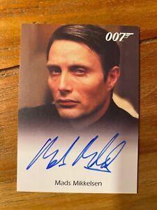 James Bond Archives 2009 Auto Card Mads Mikkelsen Le Chiffre Casino Royale MINT