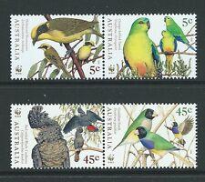 AUSTRALIA 1998 ENDANGERED SPECIES BIRDS UNMOUNTED MINT, MNH