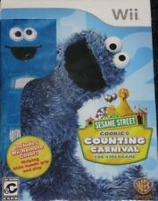 NEW Sealed Wii Sesame Street : Cookie's Counting Carnival w/ Cover  Free Ship !
