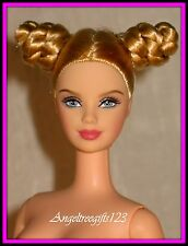 Gorgeous nude octoberfest Barbie blonde hair short buns for ooak or play