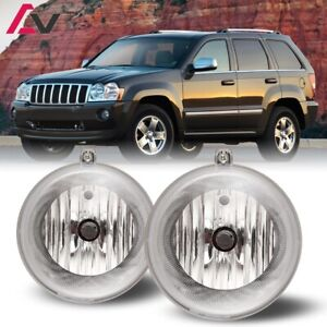 For Jeep Grand Cherokee 05-10 Clear Lens Pair Bumper Fog Light Replacement