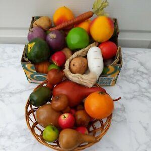 Artificial Faux Fruit & Vegetables Lot of 50 Pieces Realistic Decorative Look