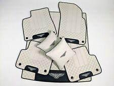 Bentley Bentayga Fit Bespoke Floor Mats, Trunk mat, Pillows Linen/Black