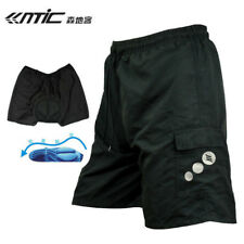 SANTIC Men's Cycling Shorts 1/2 Leisure With 3D Paded Reflective Bicycle Shorts