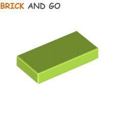 LEGO x 8 / 3069 - 4500125 Plaque Lisse (vert) Plate Tile 1x2 (green) NEUF NEW