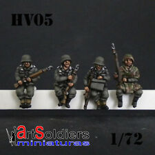 Xan Miniatures  20mm   HV05 Panzergrenadiers for Sdkfz seated (4 Figures)