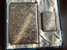 VINTAGE 1950'S STERLING SILVER LIGHTER AND CASE IN BOX ZIPPO 2517191
