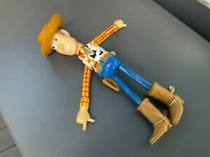 """Rare Disney Thinkway Original 1996 Vintage Toy Story 6"""" Collapsable Woody figure"""