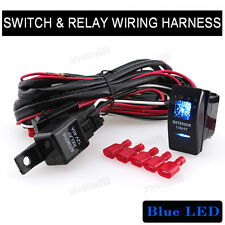 12V ON/OFF INTERIOR LIGHTS Switch Wiring Harness LED Kit Relay Front Fog Work