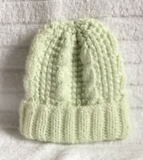Brand New Hand Knitted Mint Unisex Baby's Hat Size Newborn Approx Free Post