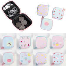 Cute Pattern Small Leather Mini Wallet Card Holder Zip Coin Purse Clutch Handbag
