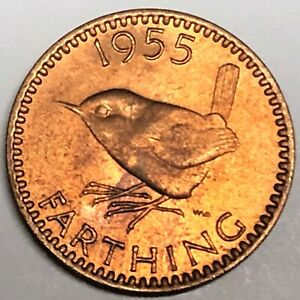 # C7064     GREAT BRITAIN     COIN,     FARTHING    1955