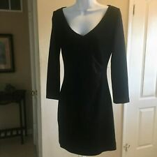 NWOT St John Black Wool Blend Fitted Ruched Side Cocktail Dress 4