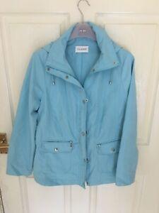 Lovely Marks & Spencer New Light Turquoise Coat Detachable Hood Size 14