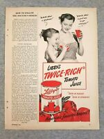 1949 Magazine Advertisement Page Libby's Canned Tomato Juice Mom Daughter Ad