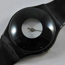 swatch gent vintage monocle gb201 orologio nero uomo donna da collezione rare