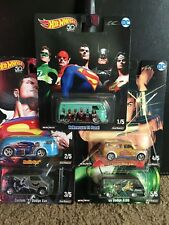 Hot Wheels DC Comics Pop Culture Alex Ross Set of 5 2018 50th Anniversary