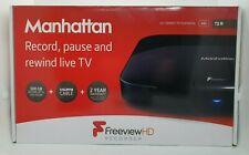 Manhattan T2-R 500GB Twin Tuner HDMI USB Freeview HD Recorder
