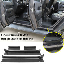 Door Sill Guard Scuff Plate Trim For Jeep Wrangler Jl 2018-20 Gladiator Jt 4Door (Fits: Jeep)