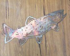Plasma Cut Metal Wall Art ; Fish Trout