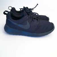 Nike Womens Roshe Run Triple Black Running Shoes Sneakers 511882-096 Sz US 7.5